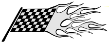 flaming racing flag