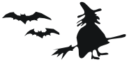 witch and bats