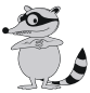 cartoon raccon