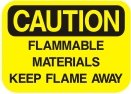 flammable materials keep flame away