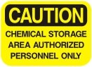chemical storage area authorized personnel only