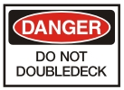 do not doubledeck