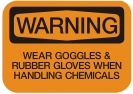 goggles rubber gloves